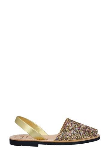 Palmaira Sandals Rainbow Glitter Flat Sandals