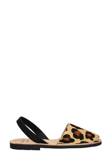 Palmaira Sandals Leopard Print Flat Sandals