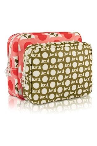 Orla Kiely Apple Double Washbag