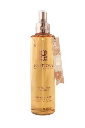 Boutique from The English Bathing Company Amber, Musk & Vanilla Hair & Body Mist 250ml
