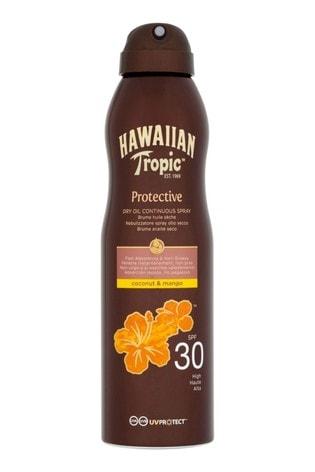 Hawaiian Tropic Protective Dry Oil Continuous Spray Coconut & Mango SPF 30 180ml