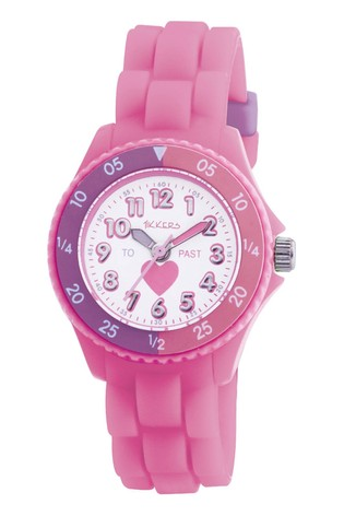 Tikkers Pink Time Teacher Kids Watch With Plastic Casing