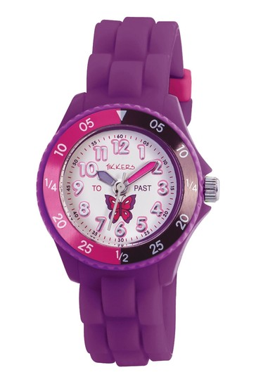 Tikkers Purple Time Teacher Kids Watch With Plastic Casing