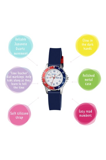 Tikkers Blue Time Teacher Kids Watch With Metal Casing