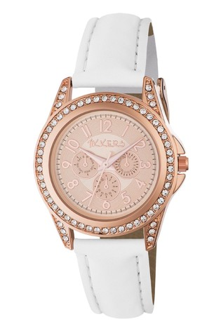 Tikkers White Kids Watch With Metal Casing
