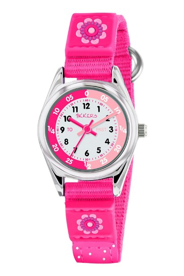 Tikkers Pink Time Teacher Kids Watch With Metal Casing