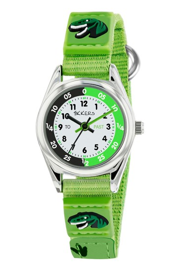 Tikkers Green Time Teacher Kids Watch With Metal Casing