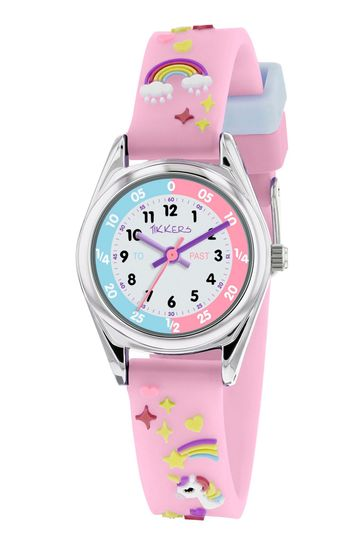 Tikkers Purple Time Teacher Kids Watch With Metal Casing