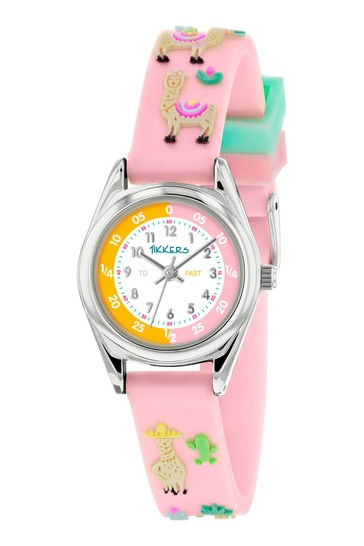 Tikkers Blush Time Teacher Kids Watch With Metal Casing
