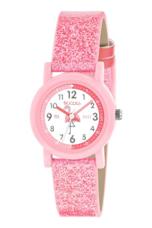 Tikkers Pink Time Teacher Kids Watch With 26mm Plastic Casing