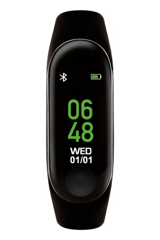 Tikkers Black Kids Activity Tracker Watch With Coloured Strap