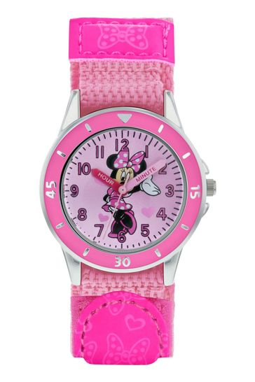 Peers Hardy Pink Minnie Mouse Kids Fabric Watch
