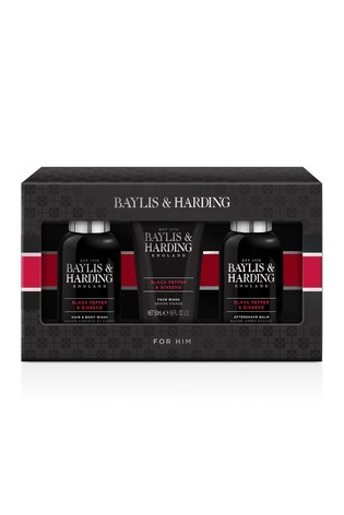 Baylis & Harding Signature Men's Black Pepper & Ginseng Small 3 Piece Set