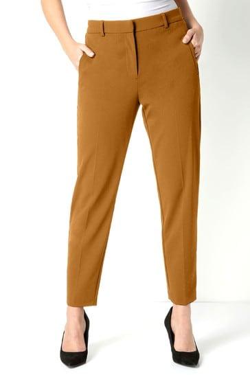 Roman Camel Regular Originals Straight Leg Tapered Trouser