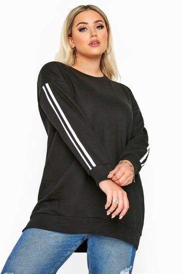 Yours Black Side Stripe T-shirt