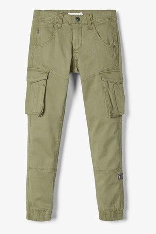 Name It Green Boys Cargo Trouser