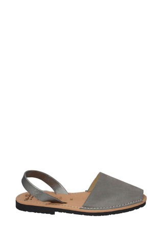 Palmaira Sandals Grey Nubuck with a Gunmetal Backstrap