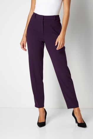 Roman Purple Regular Originals Straight Leg Tapered Trouser