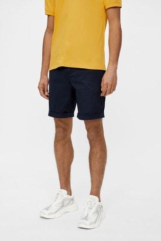 JLindeberg Navy Cotton Chino Golf Shorts