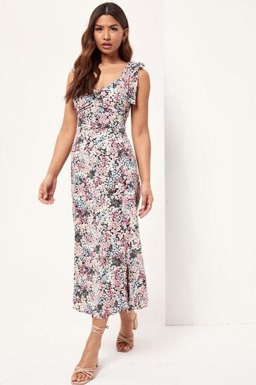 Lipsy Floral Printed Strap Midi Dress