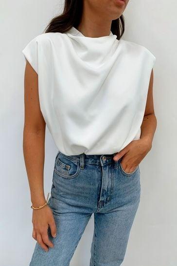 Pretty Lavish White Farrah Blouse