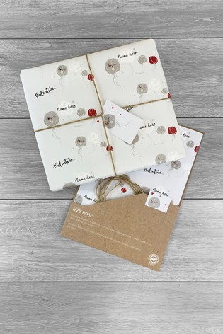 Personalised I Love you Gift Wrap & Tags by Izzy Rose