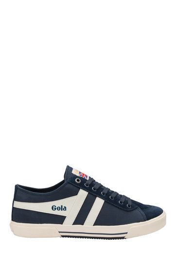 Gola Navy and Off White Super Quarter Canvas LaceUp Trainers