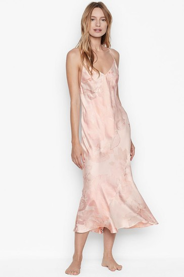 Victoria's Secret Satin Asymmetrical Slip Dress