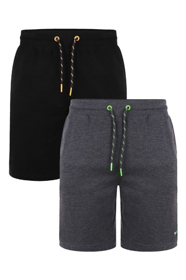 Threadbare Black 2 Pack Bergamot Sweat Shorts