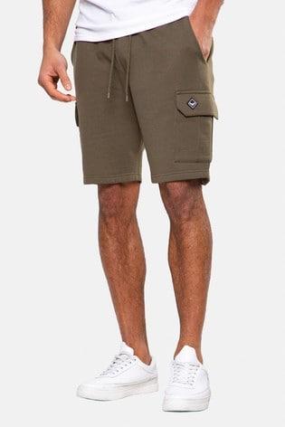 Threadbare Khaki Hunter Sweat Cargo Shorts