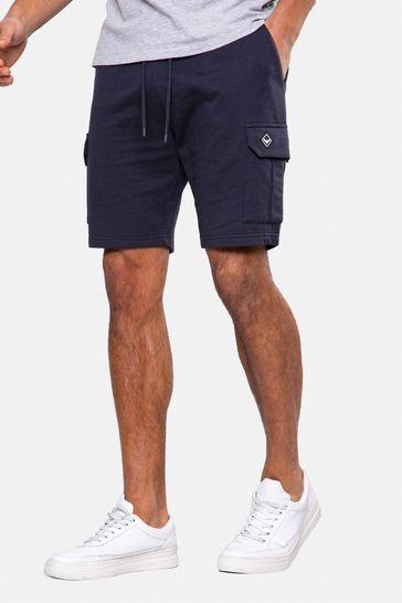 Threadbare Navy Hunter Sweat Cargo Shorts