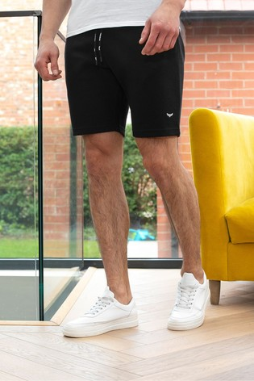 Threadbare Black Pique Shorts
