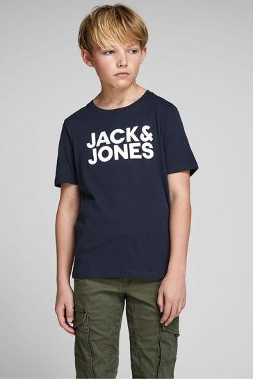 Jack & Jones Junior Navy Original Logo T-Shirt