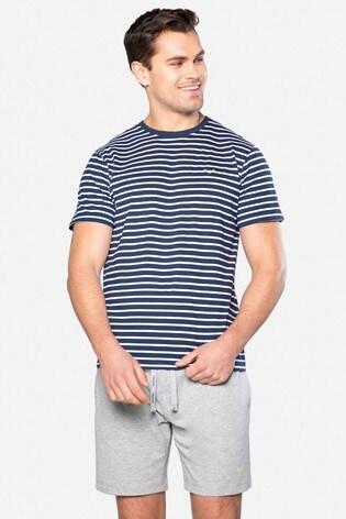 Threadbare Navy Keagan Cotton Pyjama Set