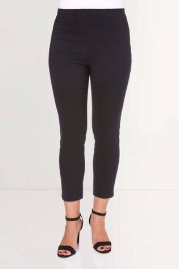 Roman Black 3/4 Length Stretch Trouser