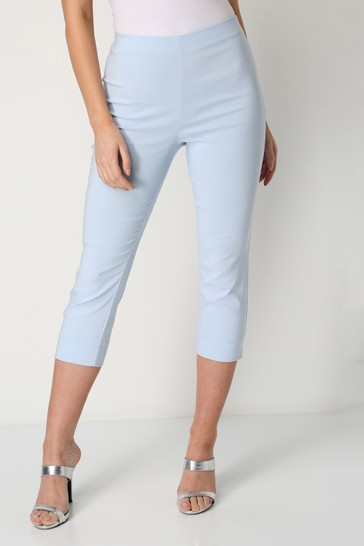Roman Light Blue Cropped Stretch Trouser