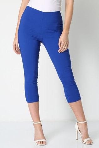 Roman Royal Blue Cropped Stretch Trouser