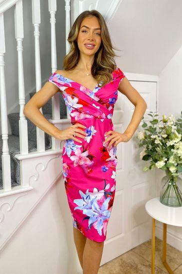 Sistaglam Multi Loves Jess Wrap Dress
