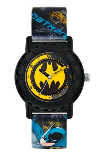 Peers Hardy Black Kids Printed Silicon Strap Dial Watch