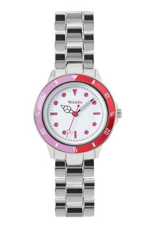 Tikkers Pink and Pruple Alloy Bracelet Time Teacher Watch