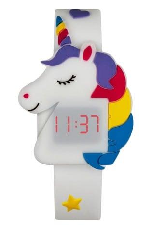 Tikkers White Silicone Strap Unicorn Design Watch