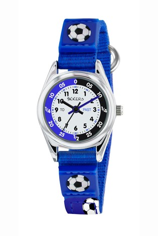 Tikkers Blue Velcro Football Watch and Wallet Set