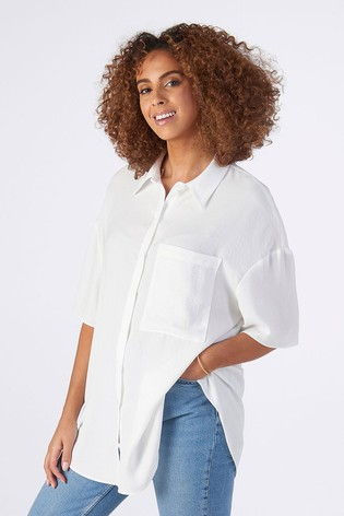 Rae Ivory Ellie Drapey Boxy Shirt