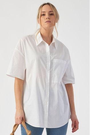 Rae Ivory Ellie Cotton Boxy Shirt