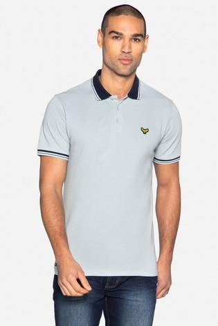 Threadbare Blue Decker Cotton Short Sleeve Polo Shirt