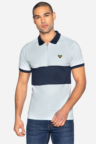 Threadbare blue Vinn Cotton Short Sleeved Polo Shirt