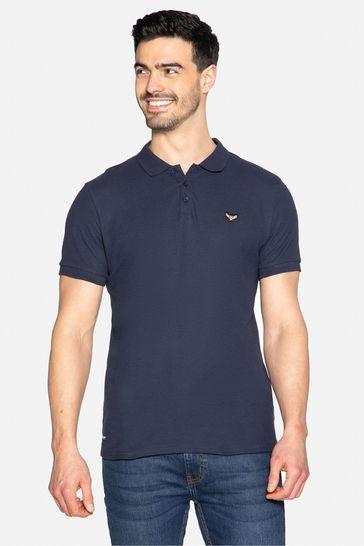 Threadbare navy Samson Cotton Pique Polo Shirt
