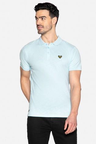 Threadbare Blue Henry Cotton Short Sleeve Polo Shirt