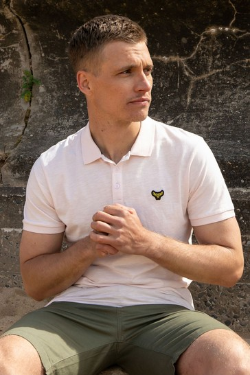 Threadbare Rose Henry Cotton Short Sleeve Polo Shirt