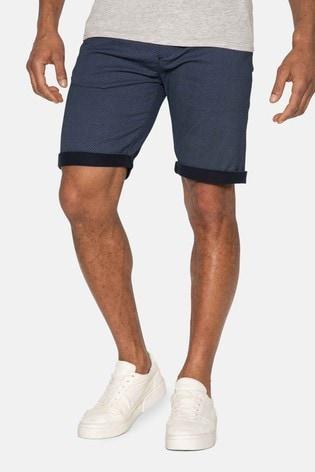 Threadbare Navy Brave Cotton Chino Shorts